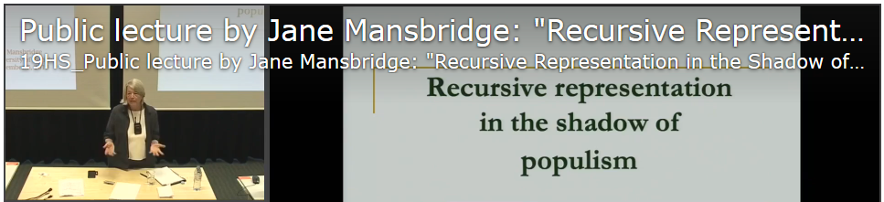 Lecture JaneMansbridge 2019 09