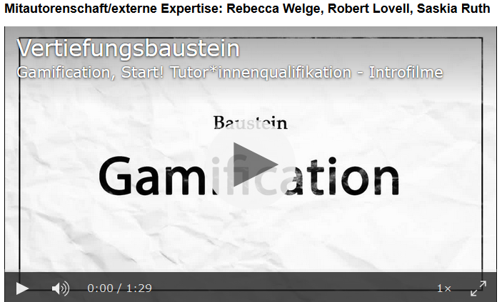 UZH Hochschuldidaktik Gamification start